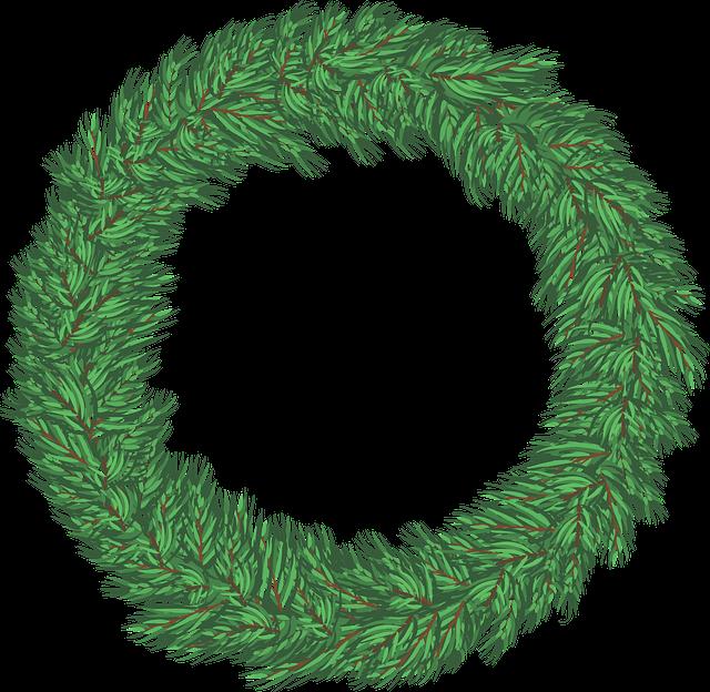 jednoduchý nezdobený vánoční věnec